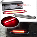 (2) прозрачные Линзы Красный 3D Оптический Стиль LED Бампер Отражатель Света Для Lexus & Toyota Замены Со Бампер Отражающей Линзы