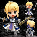 "Bonito 4 ""Nendoroid 121 # Fate Stay Night Sabre Face Mutável Movable PVC Action Figure Modelo Coleção Toy 10 cm KT427"