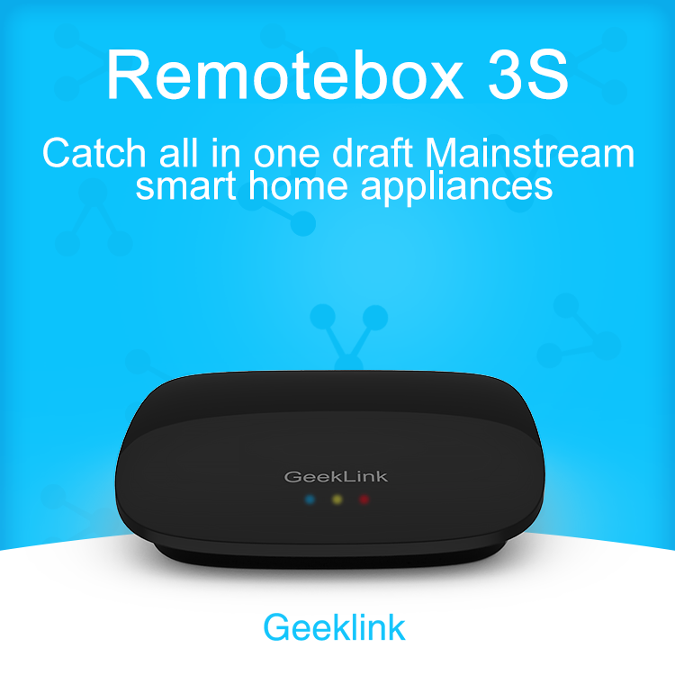 цена на Geeklink Remotebox 3S Smart Home Wifi+IR+RF Switch Remote Control Autoamtion Universal Intelligent Controller By Ios Android