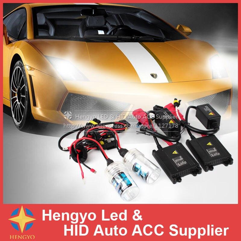 Livraison gratuite xénon HID Kit voiture phare AC Slim Ballast 35 W H1 H3 H7 H9 H10 9006 ampoule xénon 4300 K 6000 K 8000 K 10000 K 12000 K 12 v