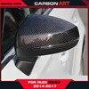 For Audi A3 S3 Carbon Fiber Mirror Caps Cover Holder Limousine Sedan 4 Door Auto Accessories