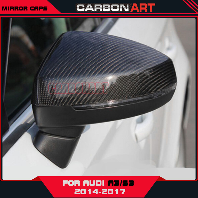 for Audi A3 S3 Carbon Fiber Mirror Caps Cover Holder Limousine Sedan 4 door auto accessories styling product carbon fiber mirror cover for 07 09 audi a4 b8