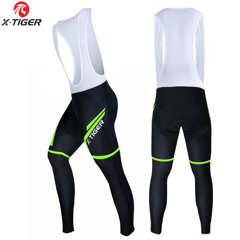 X-Tiger 2017 Cycling Bib Pants Winter Coolmax 3D Gel Pad Bike Tights Ciclismo Pantalones Keep Warm Thermal MTB Bicycle Trousers santic men s professional cycling bib shorts coolmax padded man s bicycle bib shorts 3d braces pants bike tights s 3xl