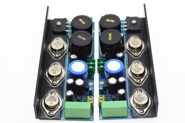 F-012 Small HD1969(MJ2955) 13W(8Ohm)*2 Supper HD1969(MJ15024 MJ15025) 25W/(8Ohm)*2 Finished Power Amplifier board Not Kit