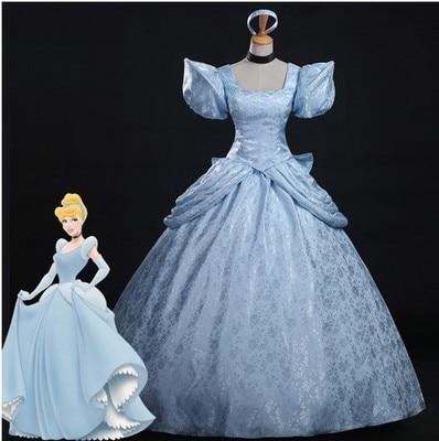 Ancestral Cinderella Sylvesian Dress Cinderella Cute Lace Dresses Blue Elegant Floor Dresses Stage Cosplay Halloween costumes