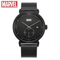 Marvel Мстители для мужчин's календари нержавеющая сталь ультратонкие кварцевые наручные часы Homme Роскошные disney время герой водонепрони