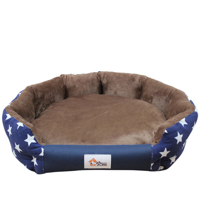 WCIC Stylish Warm Dog Bed 3 Sizes Soft Waterproof Mats for Small Medium Dog Autumn Winter Pet Beds Dog House Cat Bed Cama Perro 4