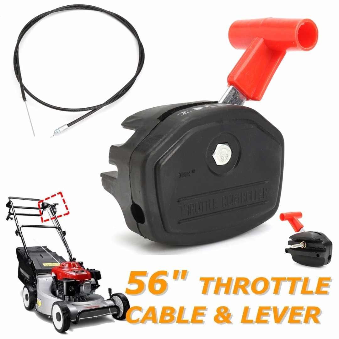 1Set 56/'/' Lawn Mower Throttle Cable Switch Lever Control Handle for Lawnmower SE