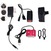 5V USB Charging 8000 Lumens Cree XM L T6 LED Bike Light 4 Modes Headlight Night