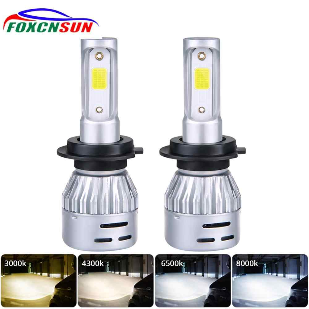 2 PCS 36W 8000LM 6500K 3000K H4 H1 H3 Turbo LED Car Headlight H7 H8 H9 H11 H27/880/881 9005 HB3 9006 HB4 9007 Led Fog Light Bulb