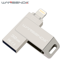 Wansenda I200 OTG Usb 2 0 Usb Flash Drive 16gb 32gb 64gb 128gb Pendrive For IPhone
