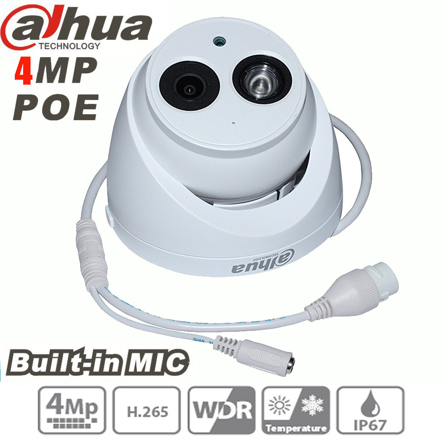 Dahua 4MP IP Camera h 265 PoE Built in mic IPC HDW4431C A IR security cctv