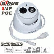 Dahua 4MP IP Камера H.265 POE Встроенный микрофон IPC-HDW4431C-A ИК безопасности, видеонаблюдения Купольная Камера ONVIF HDW4431C-A английский прошивки