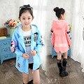 Roupa das crianças Dos Desenhos Animados Minnie Casaco Para As Meninas Nova Primavera Outono Crianças Casacos Com Capuz Jaqueta Casual Meninas Top Trench Coat
