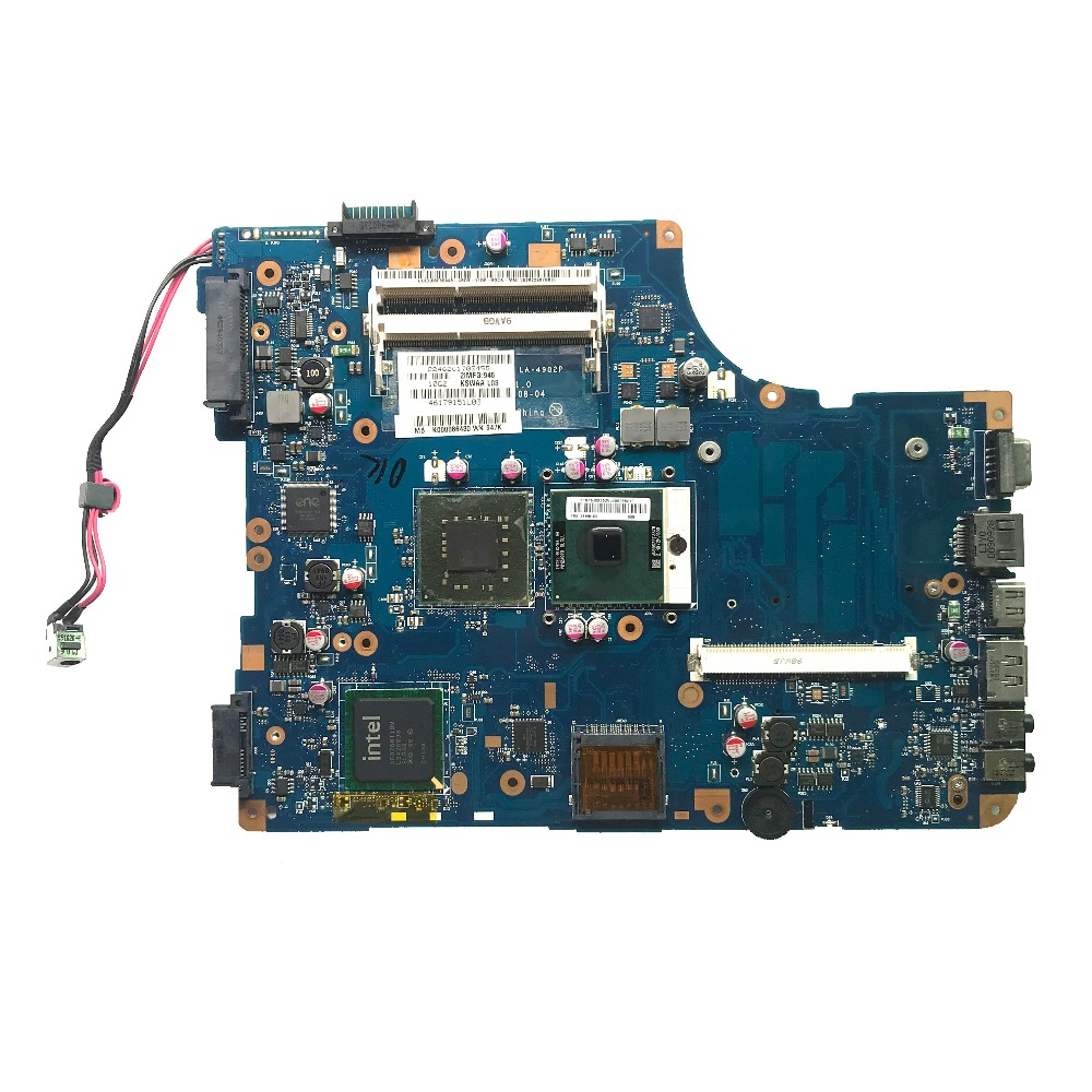 Excellent For Toshiba L500 Laptop Motherboard With CPU DDR3 K000086430 KSWAA LA 4982P 100 working