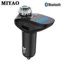 цена на Wireless Bluetooth FM Transmitter Car Kit Handsfree TF MP3 Player USB 3.1A Charger Hands Free Auto FM Modulator Car Accessories
