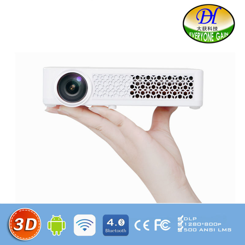 DH 3DAi Top Quality 3D LED Android Multimedia font b Projector b font Business Sharing font