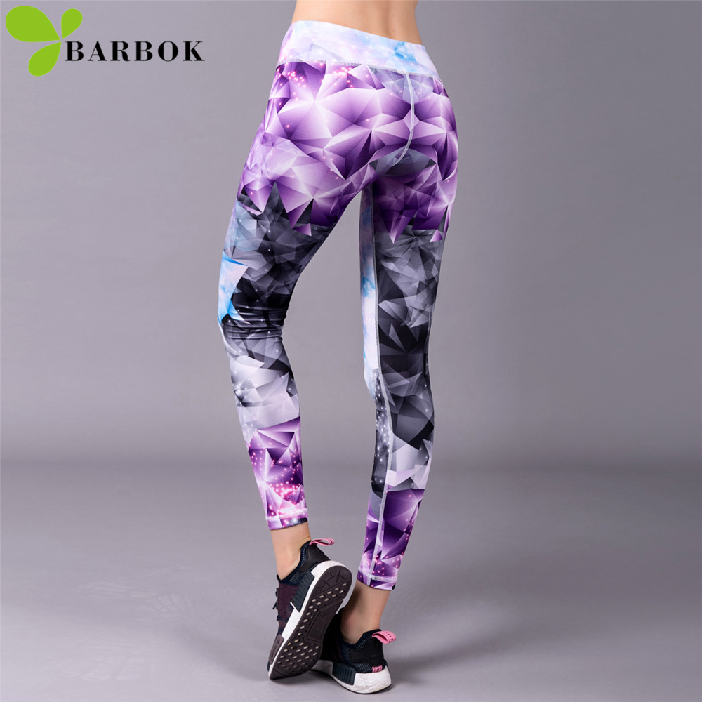 BARBOK Sports Leggings Yoga Pants Leggins Women Fitness Sportswear Gym Leggings Soft Flexible Running Exercise Workout Clothing