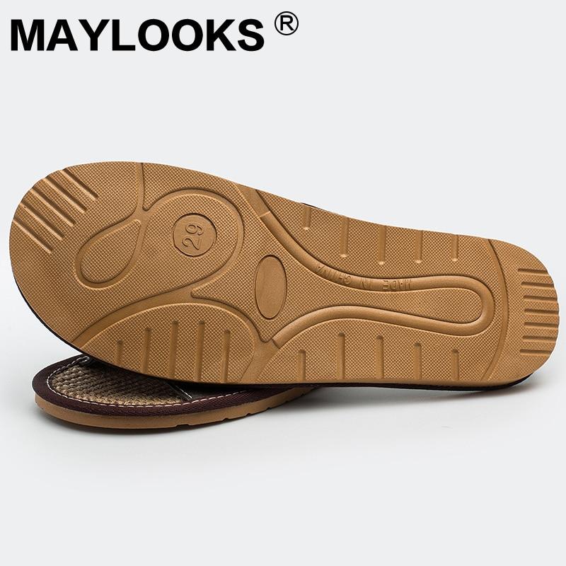 Chinois pas cher vache en cuir plage pantoufle en cuir véritable à - Chaussures pour hommes - Photo 6