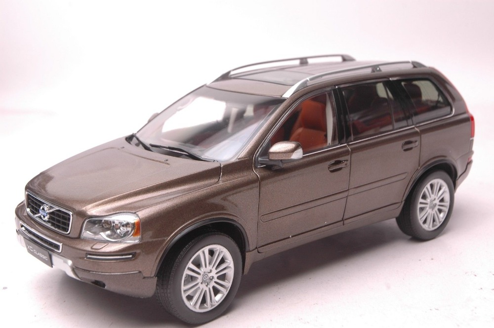 1:18 Diecast Model for Volvo XC Classic XC90 Brown SUV Alloy Toy Car Collection S60 premiumx 1 43 yuan bao 1968 volvo 164 rich 164 alloy models prd247