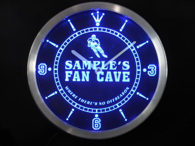 nctg-tm Name Personalized Custom Hockey Fan Cave Bar Beer Neon Sign LED Clock Wholesale Dropshipping