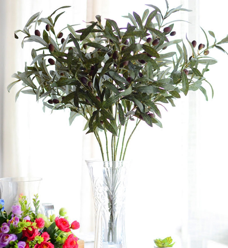 High Imitation Olive Branch Artificial Plant Leaves Living Room Flower  Decorations For Wedding Party Photography In Artificial U0026 Dried Flowers  From Home ... Part 85