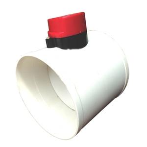 Image 4 - 220 V PVC Kunststoff HAVC Elektrische Dämpfer Überprüfen Ventil 75/110/160/200mm Luftkanal Volumen regelventile Für Belüftung Rohr 24 V 12 V