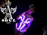 The new LED luminous costumes LED the annual meeting of the loading stage performance Bar king of popularity Free size