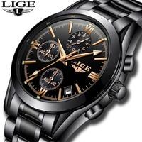 Relogio Masculion LIGE Men Top Luxury Brand Military Sport Watch Men S Quartz Clock Male Full