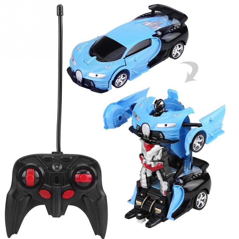 1/18 Scale 2In1 RC Car Remote Control Driving Sports Cars Drive  Transformation Robots Models Vehicle One-key Deformation RC Car