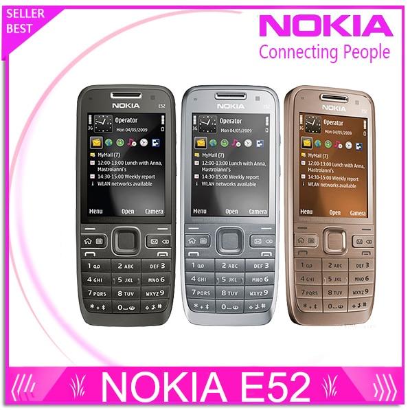 Refurbished E52 Original Nokia E52 WIFI GPS JAVA 3G Unlocked Mobile Phone handset russian keyboard phone