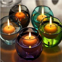 100 pcs! Water Floating shape candles Romantic Wedding Birthday Party Valentine Paraffin Home Decor Smokeless tasteless
