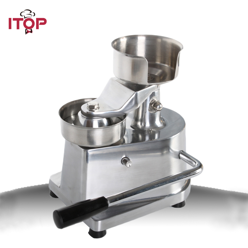 ITOP Manual Hamburger Burger Press Patty Meat Patties Meatball Shaping Machine 100mm 130MM 35l meat salting marinated machine chinese salter machine hamburger shop fast pickling machine with timer