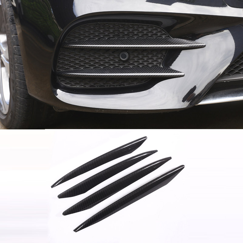 ABS Plastic Carbon Fiber Color Front Fog Lamp Cover Trim For Mercedes Benz E Class W213 2016 2017 E43 AMG Auto Part Newest