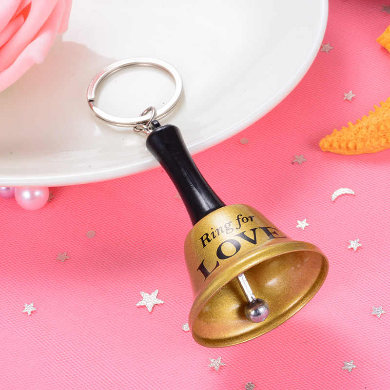 Sitaicery bonito mão sino chaveiros para sacos de compras chaves do carro jóias acrílico encantos chaveiro acessórios presente natal