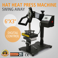 Digital Clamshell Baseball Hat Cap Heat Press Transfer Sublimation Machine in usa supermarket