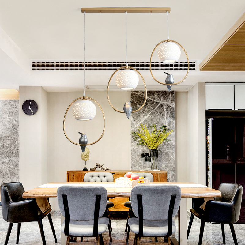 American restaurant ceramic pendant lamps balcony aisle bar classical home bedroom corridor porch bird pendant light ZA9197 loft style metal cage ceiling lights hotel corridor creative ceiling lamps restaurant aisle balcony kitchen for home lighting