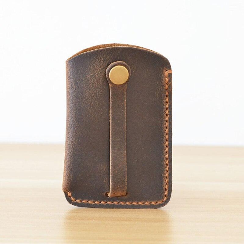 Creative Handmade Genuine Leather Car Key Case Holder Designer Key Holder Organizer for Car Men Key Holder Car Case for Keys