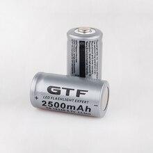 16340 Battery 3.7V 2500mAh CR123A Rechargeable Li-ion Batteries for Laser Pen LE