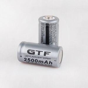 Image 2 - 20 قطعة CR123A 3.7V 2500mah 16340 بطارية ليثيوم أيون قابلة للشحن بطاريات مصباح ليد جيب الشعلة سيارة كهربائية لعبة بطارية