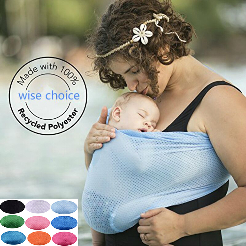 Multifunctional Baby Water Sling Mesh Breathable Infant Water Carrier for Summer Pool Beach Wrap Carrier Shoulder Chest Ring