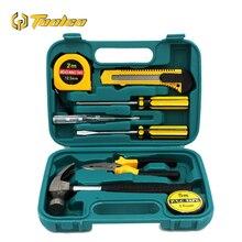 9Pcs/ set Combination Tool Kit Household Set Home Repair Auto Mixed Hand