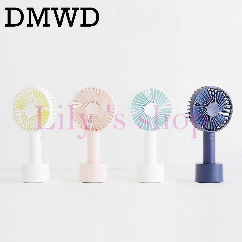 DMWD Mini hand held electric USB fan Air Conditioner fan portable Cooling Fan Rechargeable Desktop cooler Ultra-quiet for Summer portable mini air cooling fan usb rechargeable fan for home office outdoor handheld cooler fan desktop electric mini fan