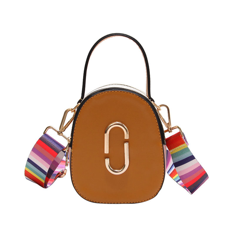Fashion Metal Oval Mini Small Square Pack Shoulder Bag Crossbody Package Clutch Women Designer Wallet Handbags Bolsos Mujer