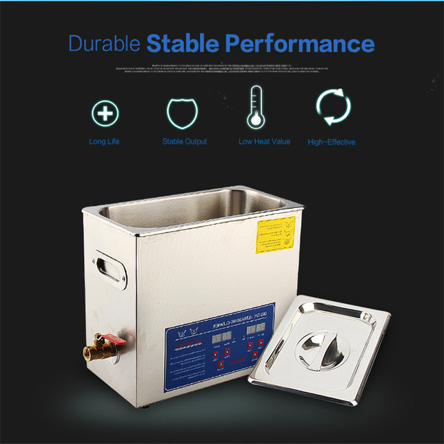 480W 22L Digital Stainless Steel Ultrasonic Cleaner Ultra Sonic Cleaning Machine Heated