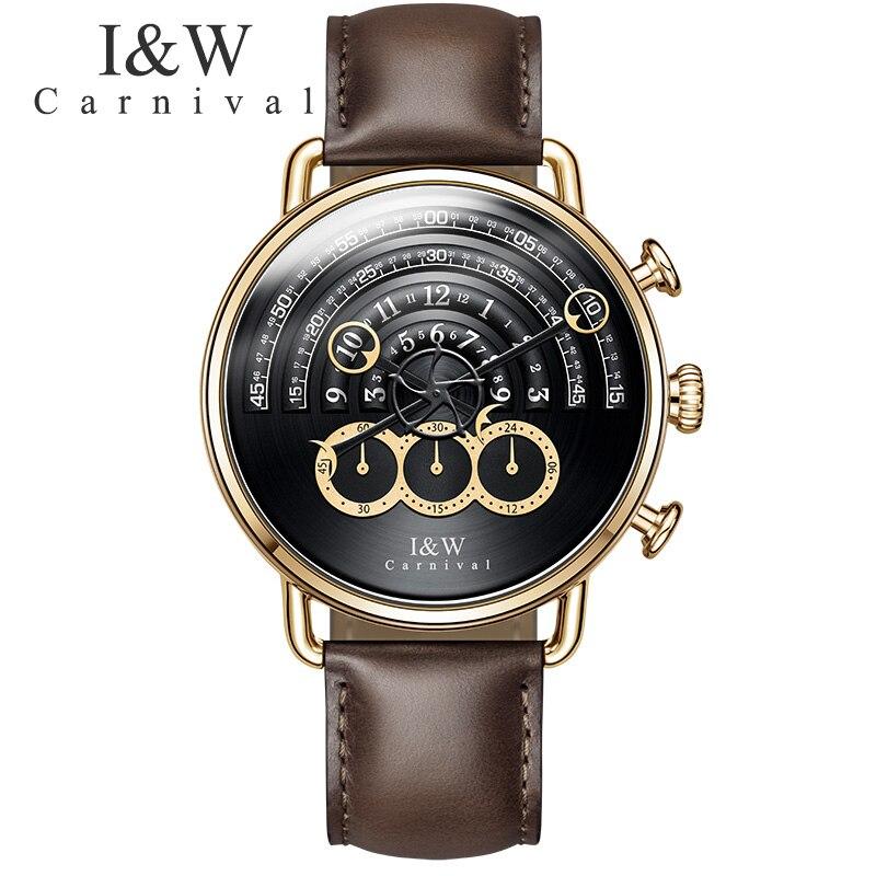 Carnaval hommes Quartz Sport montre chronographe armée militaire montres horloge hommes Top marque de luxe 2017 nouvelle montre créative hommes Relogio - 3