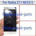 5.5 polegada display lcd completa + touch screen substituição assembleia digitador de vidro para zte nubia z11 nx531j frete grátis