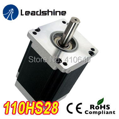 Free Shipping GENUINE Leadshine 110HS28  Phase NEMA 42 Hybrid Stepper Motor with 28 N.m 6.5 A length 201 mm shaft 19 mm free shipping genuine leadshine 110hs28 phase nema 42 hybrid stepper motor with 28 n m 6 5 a length 201 mm shaft 19 mm