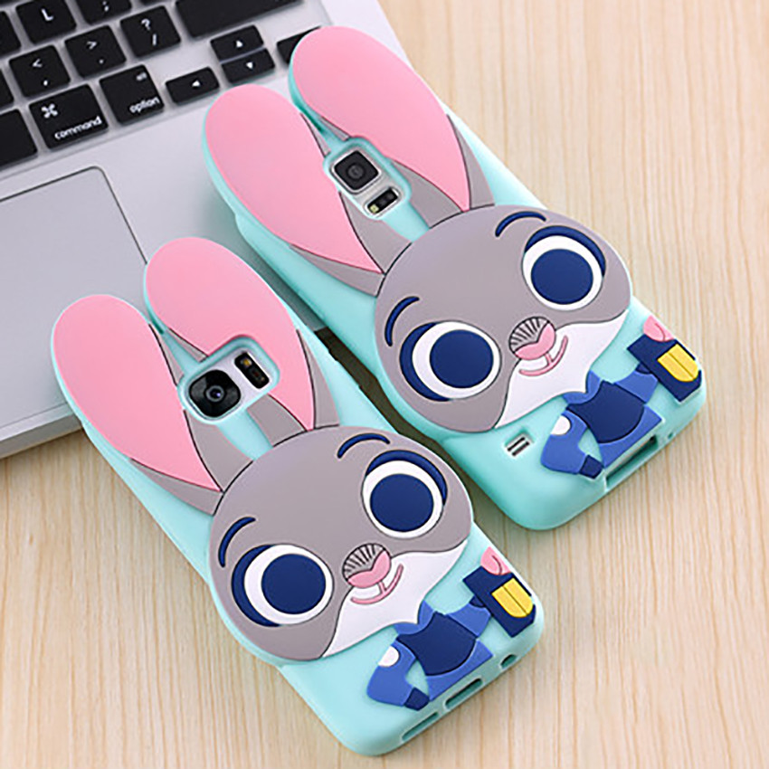 Cute 3D Zootopia Rabbit Judy Cartoon Soft Silicone font b Phone b font Cases font b