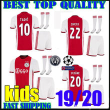 e1cc177a696 2019 2020 Ajax soccer Jersey kids KIT ZIYECH SCHONE Ajax home children  Youth TADIC DE JONG DE LIGT Football shirt